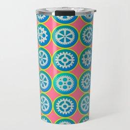 Gearwheels pattern Travel Mug