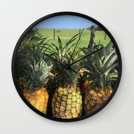 roadside pineapples in Hawaii Wall Clock