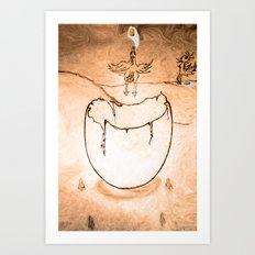 Flying egg Art Print