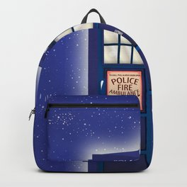 vintage police box starfield Backpack