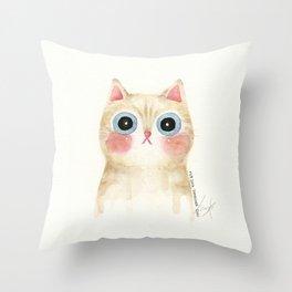 Cognac the Cat Throw Pillow