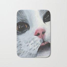 Watercolor Cat Bath Mat