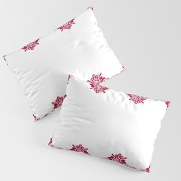 Retro .Vintage . Red lace on a white background . Pillow Sham