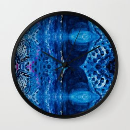 Royal Boho blue pattern Wall Clock