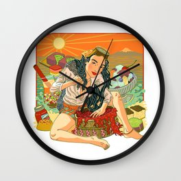 Agar Lady Wall Clock