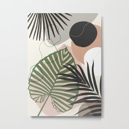 Minimal Jungle Leaves Finesse #2 #tropical #decor #art #society6 Metal Print