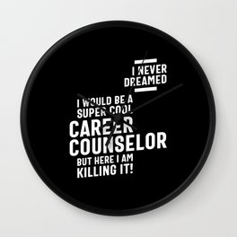 Career Counselor Job Title Gift Wall Clock