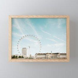 London Eye Travel Photography Framed Mini Art Print