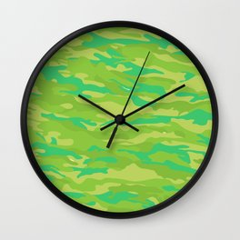 camuflaje 8 Wall Clock
