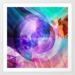 psychedelic moonscape v1.0 Art Print