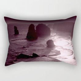 Rock formations as Dusk settles Rectangular Pillow