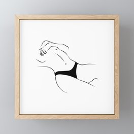 Sensual Pose Framed Mini Art Print
