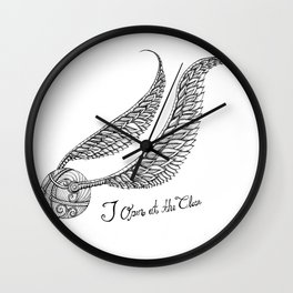 I open at the Close Snitch Wall Clock