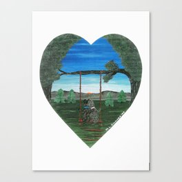 Sunset Sweethearts - Scotties - Scottish Terriers Canvas Print