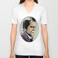 the walking dead V-neck T-shirts featuring The Walking Dead by Zombie Rust