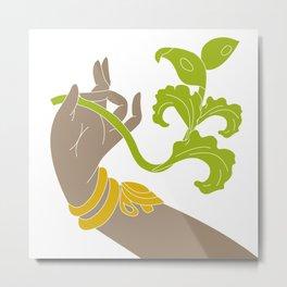 Hand of Indian Dance Metal Print