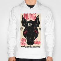 pigs Hoodies featuring WAR PIGS by Joshua Billingham