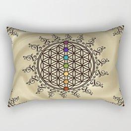FLOWER OF LIFE, CHAKRAS, SPIRITUALITY, YOGA, ZEN, Rectangular Pillow