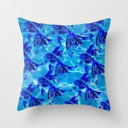 Mandala Swim Fish Throw Pillow