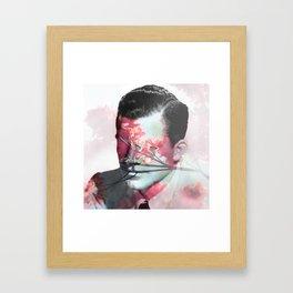 Flowers Boy Framed Art Print