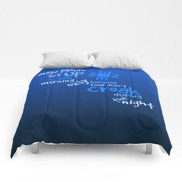 Croak-Blue Comforters
