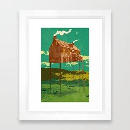 RIVER HOUSE Framed Art Print
