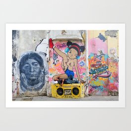 Calle Caos Colombia Art Print