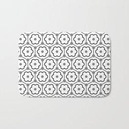 Floral Graphene - White - Gray - Black Bath Mat