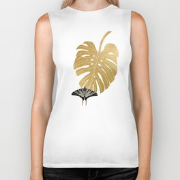 Butterfly & Monstera Biker Tank