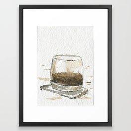 Whiskey Glass  Framed Art Print