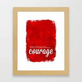 Red Courage - The Power of Color Framed Art Print