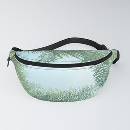Nature photography tropical vibe vintage palm leaf II Fanny Pack