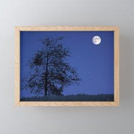 Lunam et stellas in ligno Framed Mini Art Print