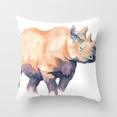 Rhino Throw Pillow