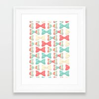 bows Framed Art Prints featuring bows by melazerg