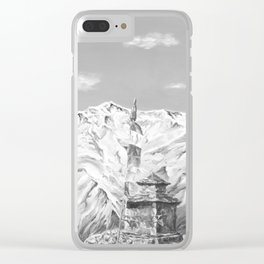 Nepal Prayer Stupa Clear iPhone Case