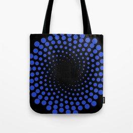 spiral in blue Tote Bag