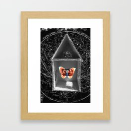 Sometimes home is the light that leads you through the darkness Framed Art Print