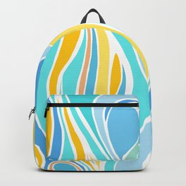 Beach Day Abstract Backpack