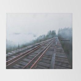 Abandoned Railroad Vance Creek Bridge - Olympic National Park, Washington Throw Blanket