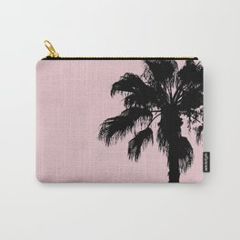 Palm Tree Silhouettes On Pink Carry-All Pouch