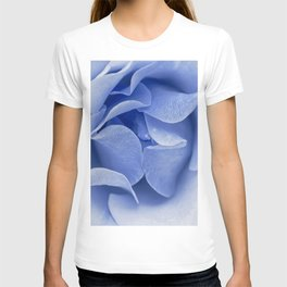 Blue flora Rose Bud- Roses and flowers T-shirt