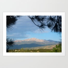 Pikes Peak In The Morning Art Print
