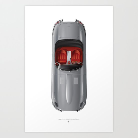 Classic Series N.º1, Jaguar E Art Print