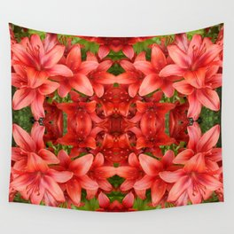 """""""A Gathering of Lilies"""" Remix - 5 (3-1) [D4471~15] Wall Tapestry"""