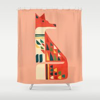 fox Shower Curtains featuring Century Fox by Picomodi