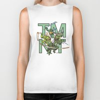 tmnt Biker Tanks featuring TMNT by Ryan Liebe