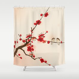 Oriental plum blossom in spring 007 Shower Curtain