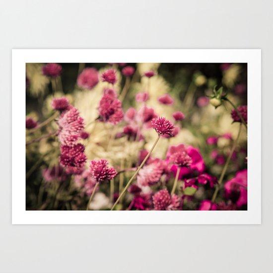 Flowers in Paris 2 Art Print