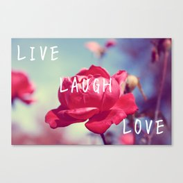 Pink Live, Laugh, and, Love Canvas Print